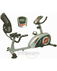 Pro Bodyline High Quality Stylish Magnetic Recumbent Bike with Sturdy Frame Structure,  silver