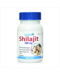 Healthvit Shilajit 60 capsules Increases Stamina & Sexual Health