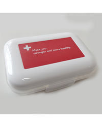 Cool Trends Travel Pill Box 4 Grid, white