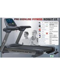 Pro Bodyline Robust A. C Commercial Treadmill With 8 H. P - X9