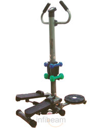 Pro Bodyline Multi Stepper with Twister & Dumbells, standard-black