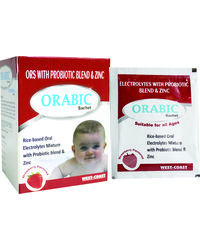 WestCoast Orabic ORS with Probiotic & Zinc Stawberry Flavor 12 Sachets - Pack of 2