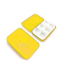 Cool Trends Travel Pill Box 8 Grid,  yellow