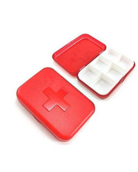 Cool Trends Travel Pill Box 8 Grid,  red