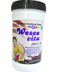 WestCoast Wescovita Junior High Protein Nutritional Powder With DHA with D3 Chocolate Flavour 200gm - Pack of 2