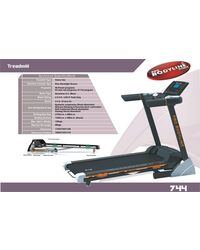 Pro Bodyline Motorised Treadmill With 5.0HP (Peak) With Silicon Damping & Running Deck Lubrication