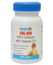 HealthVit CAL KID Kid' S Calcium With Vitamin D3 60 Tablets