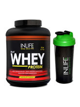 INLIFE Whey Protein 5Lb (Chocolate Flavour) With F...