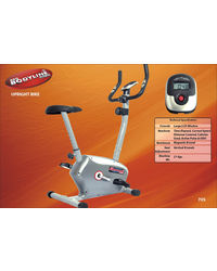 Pro Bodyline High Quality Stylish Magnetic Upright Bike (Exercise Cycle) with Sturdy Frame Structure, silver
