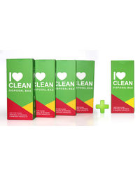 I Love Clean- Disposable Sanitary Bag-Buy 4+ Get 1 Free.