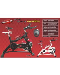 Pro Bodyline Fully Commercial Exercise Bike Model 738, multicolor