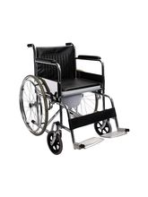Smart Care SC609 Wheelchair With Commode, Black