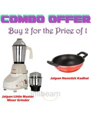 Jaipan Little Master Mixer Grinder with Jaipan Kadhai (1.5 ltr, 2.2MM)