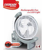 Eveready Rechargeable Fan With LED Light (Multicolor)