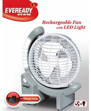 Eveready Rechargeable Fan With LED Light RF01 (Multicolor)