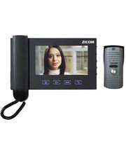 Zicom 7 Inch Video Door Phone (Colour) Handset with Touchpad (Black)