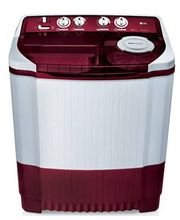 LG P7255R3F 6.2Kg Semi Automatic Washing Machine, burgundy