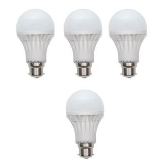 10W LED Bulb (White, Set Of 4)