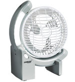 Eveready Rechargeable Fan With LED Light (RF02) AC-DC, multicolor