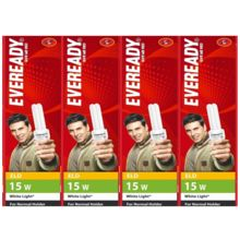 Eveready ELD 15W CFL (Pack of 4), white