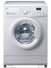 LG F8091MDL2 Front Load 5.5 Kg. Washing Machine, bouquet white