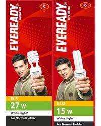 Eveready ELS 27W+ ELD 15W CFL Combo (White), white