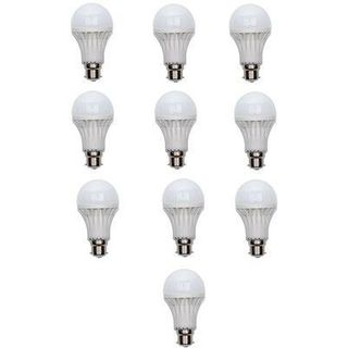 15W LED Bulb (White, Set of 10)