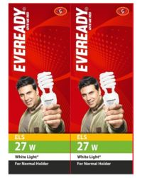 Eveready ELS 27W CFL (Pack of 2), white