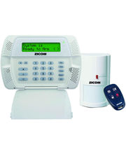 Zicom Home Alarm System Gold Kit (GOLD-445-3FT) White