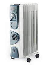 Usha Ofr 3211F- Ptc 11 Fins Oil Radiator With Fan Room Heater, Multico...