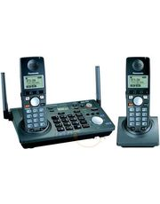 Panasonic 5.8 GHz Cordless Phone System 2-Line Expandable KXTG 6702 with Extra Handset