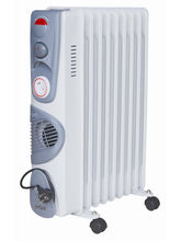 VOX X-OD-09TF Environment Friendly Oil Filled Heater With Timer & Blower (White)