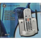 GE Cordless Phone 26710, multicolor