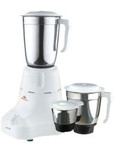Bajaj Easy 500-Watt Mixer Grinder with 3 Jars, multicolor