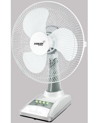 Eveready RF 03 (AC-DC) Rechargeable Table Fan,  white