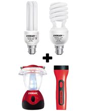 Eveready Emergency Light & CFL Home Pack, multicolor