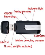 BaseThings  Flash Drive Mini DVR U8 USB Hidden Spy camera, multicolor
