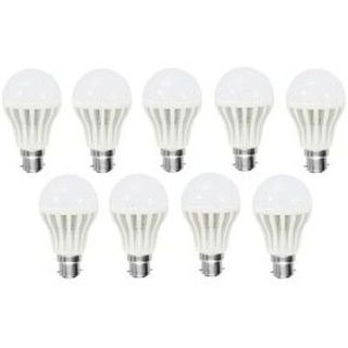 7W LED Bulb (White, Set of 10)