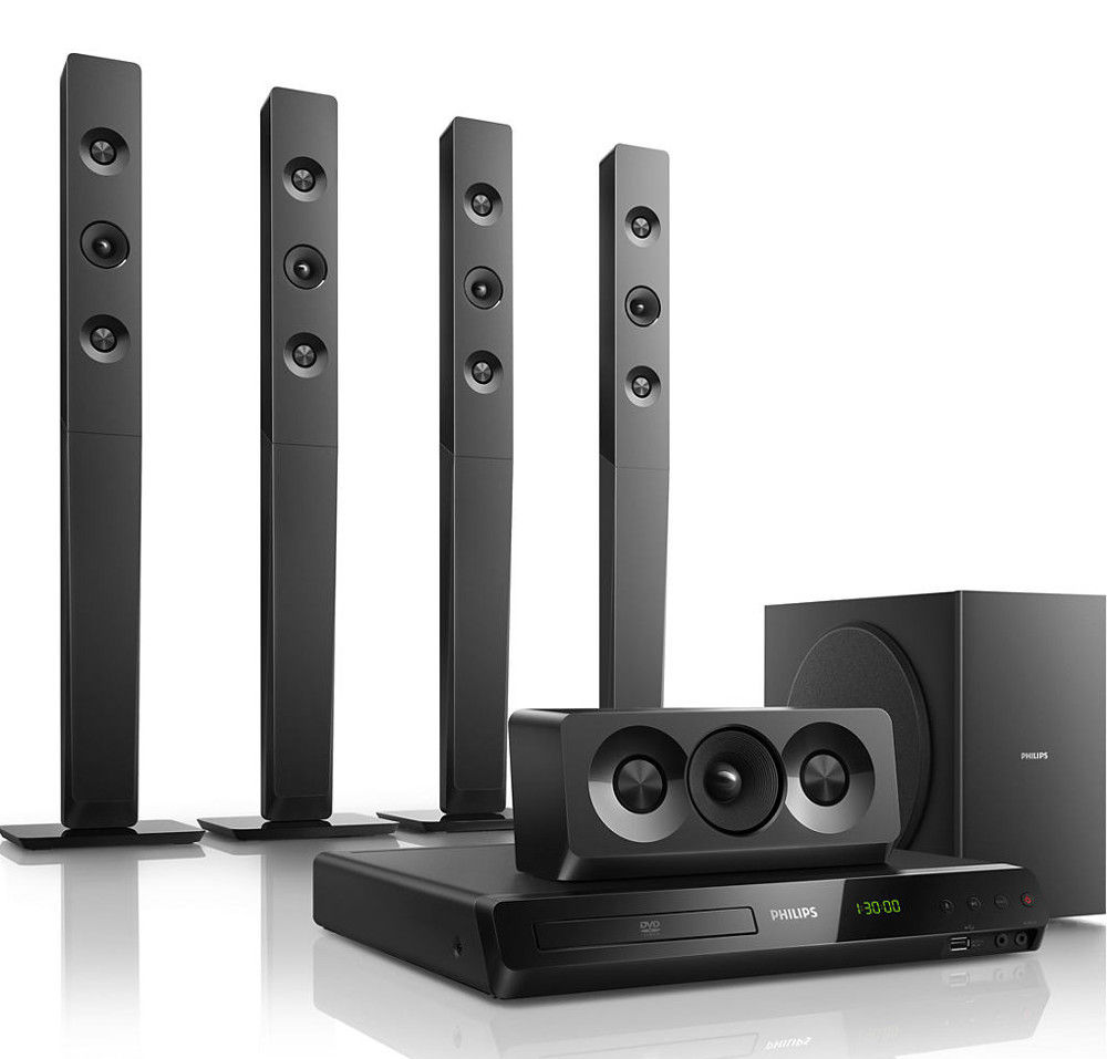 Home Theater Buying Tips: Philips HTD5580 5.1 Ch DVD Home Theatre Price: Buy Philips