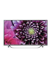 LG 49UF770T 3D 4K Ultra HD Smart LED TV, black