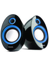 Philips SPA-60 2.0 Speaker With USB Plug, Blue
