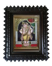 "Tanjore painting-Standing Krishna 19"" x 16"", multicolor"