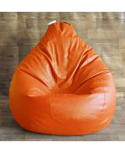 Style Homez - Filled with Beans XXL Classic Bean Bag, orange, xxl
