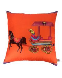 The Elephant Company Cushion Cover Victoria Horse,  orange