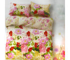 Aapno Rajasthan Bright Cotton Double Bedsheet with Huge Floral Print, yellow
