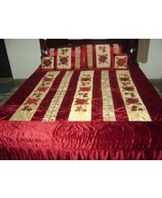Double bed Quilt -Poly Velvet & Dupion Silk -...