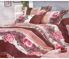 Handloomwala Dreams Double Bed Sheet With Two Pillow (Multicolor)