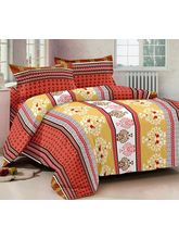 Story At Home 100% Cotton Magic 1 Double Bedsheet With 2 Pillow Cover, design8