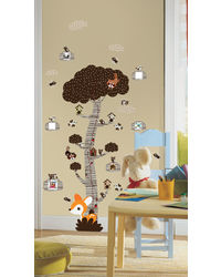 Mystical Forest Tree - Brown Height Scale, multicolor
