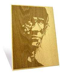 Engrave Sylvester Stallone Plaque, multicolor